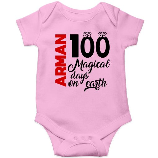 100-Days-Birthday-Customized-Name-Baby-Ropmper-Pink