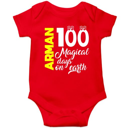 100-Days-Birthday-Customized-Name-Baby-Ropmper-Red
