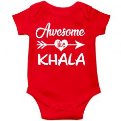 Awesome Khala Baby Romper Red