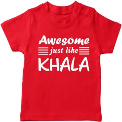 Awesome just like Khalamony Boy Girl T-shirt Red