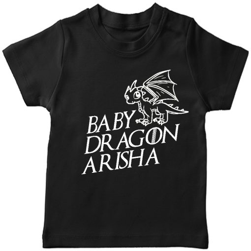Baby-Dragon-T-shirt-for-Boys-and-Girls-Black