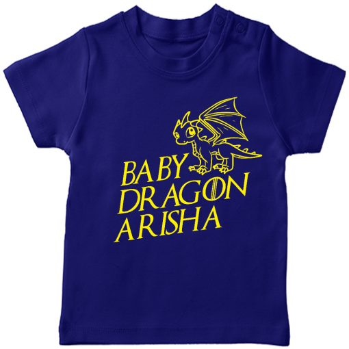 Baby-Dragon-T-shirt-for-Boys-and-Girls-Blue
