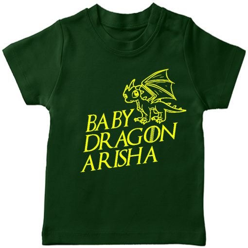 Baby-Dragon-T-shirt-for-Boys-and-Girls-Green