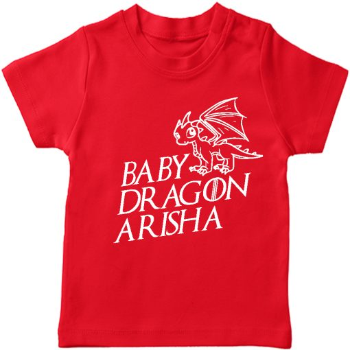 Baby-Dragon-T-shirt-for-Boys-and-Girls-Red
