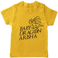 Baby-Dragon-T-shirt-for-Boys-and-Girls-Yellow