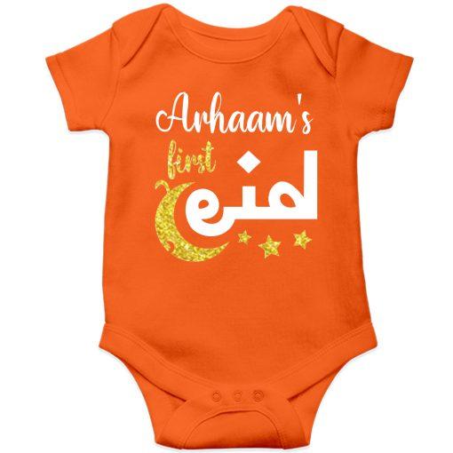 Beautiful-Designed-Customized-Name-Eid-Romper-Orange
