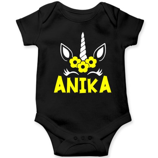 Beautiful-Designed-Unicorn-Baby-Romper-Black