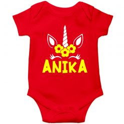 Beautiful-Designed-Unicorn-Baby-Romper-Red