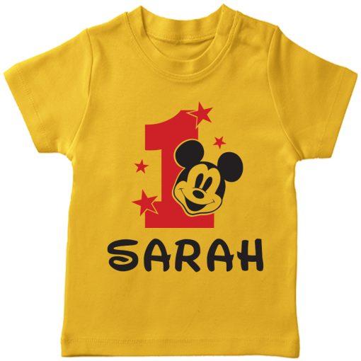Birth-Month-Mickey-T-Shirt-Yellow