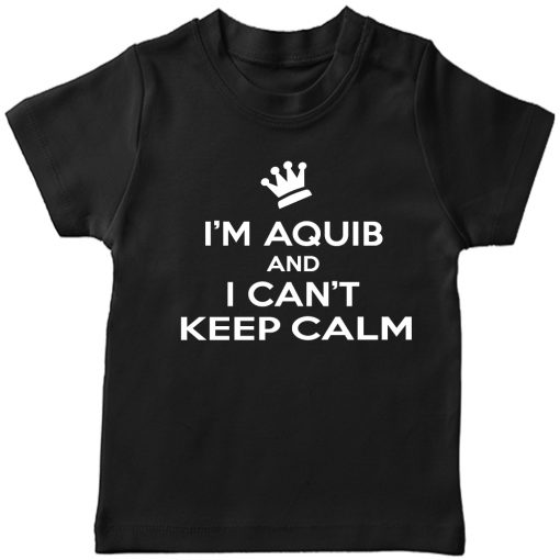 Can't-keep-calm-with-Customized-Name-T-Shirt-Black