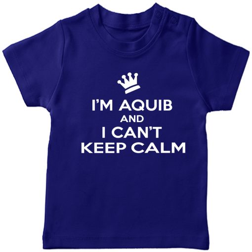 Can't-keep-calm-with-Customized-Name-T-Shirt-Blue
