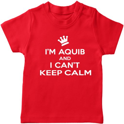 Can't-keep-calm-with-Customized-Name-T-Shirt-Red