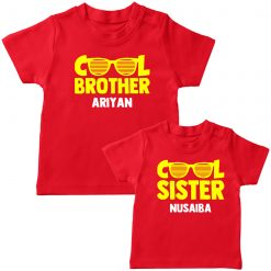 Cool-Brother-Sister-Matching-Combo-Tee-Red