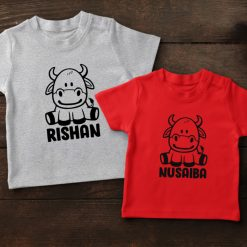 Funky-Cow-Head-With-Name-Tee-Content