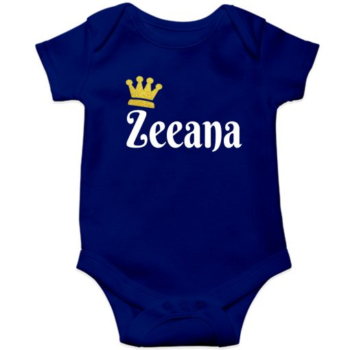 Customized-Name-with-Crown-Unique-Baby-Romper-Blue