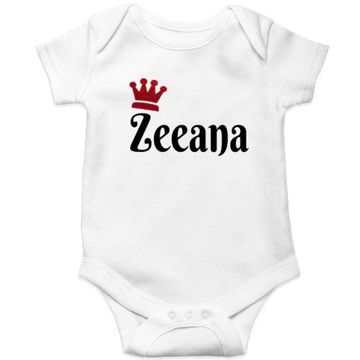 Customized-Name-with-Crown-Unique-Baby-Romper-White
