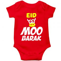 EID MOO BARAK Colorful Baby Romper Red