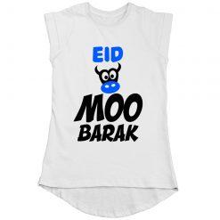 EID MOO BARAK Colorful Girls T-Shirt White