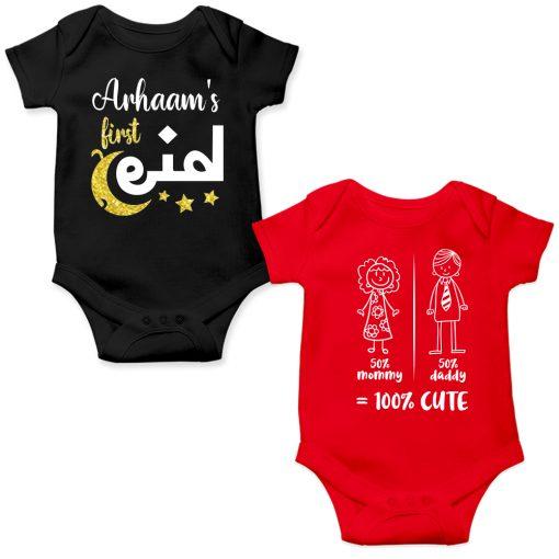 Eid-Gift-Baby-Romper-Black-&-Red
