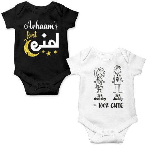 Eid-Gift-Baby-Romper-Black-&-White