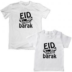 Eid-Moo-Barak-With-Horns-Family-Matching-Tee-White