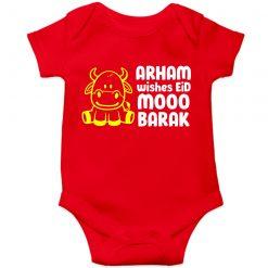 Eid-Moobarak-Funky-Baby-Romper-Red