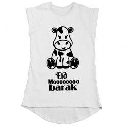 Eid Moooobarak Girls T-Shirt White