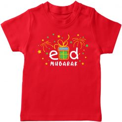 Eid Mubarak Beautiful Red T-shirt for All