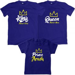 Family-Combo-For-Prince-Matching-T-Shirt-Blue
