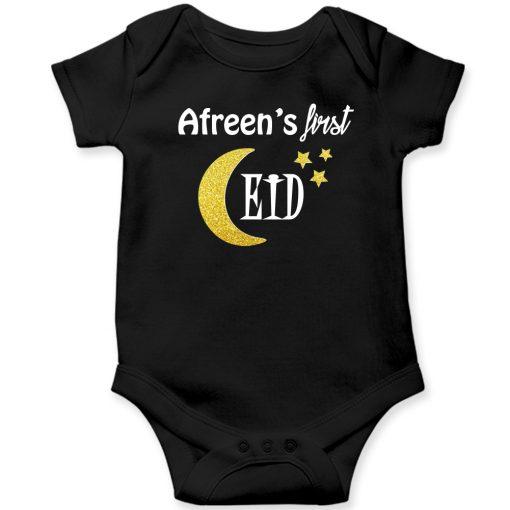 First-Eid-Celebration-Amazing-Baby-Romper-Black