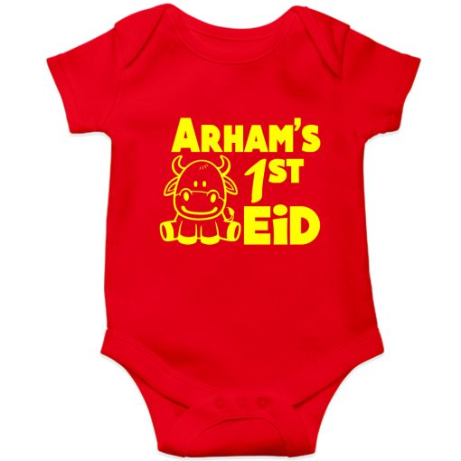 First-Eid-Unique-Baby-Customized-Romper-Red