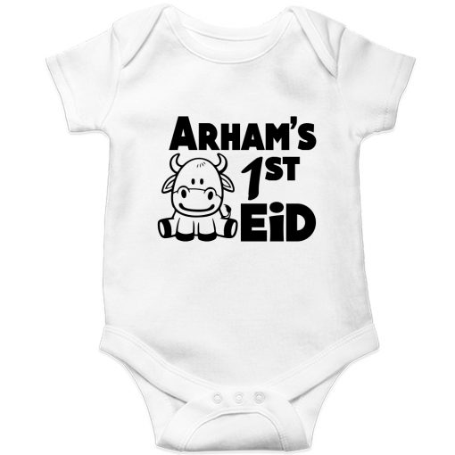 First-Eid-Unique-Baby-Customized-Romper-White