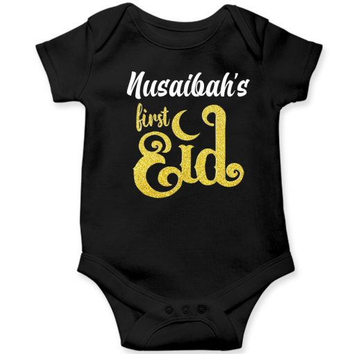 First-Eid-Unique-Baby-Romper-Black