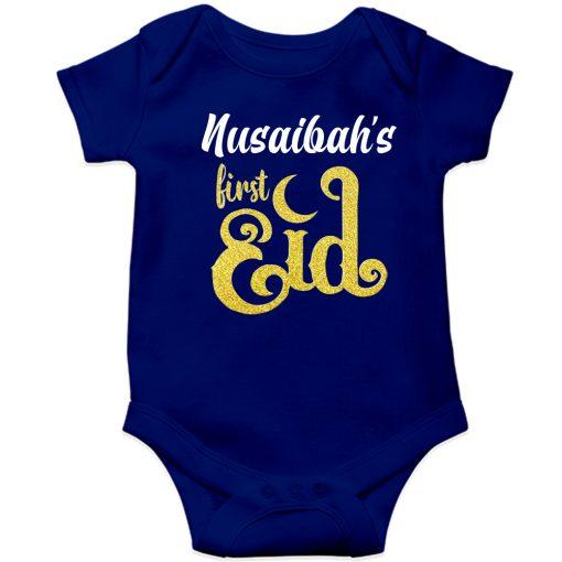First-Eid-Unique-Baby-Romper-Blue