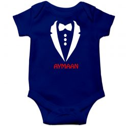 Gentleman-Customized-Name-Baby-Romper-Blue
