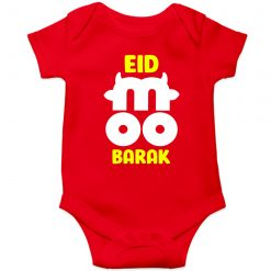 Hamba-Moo-Barak-Horn-Baby-Romper-Red