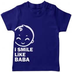 I smile like baba T-Shirt Blue
