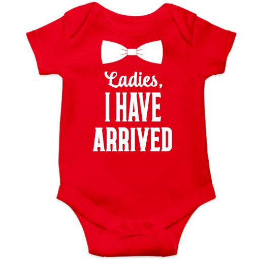 Ladies-I-have-arrived-Baby-Romper-Red