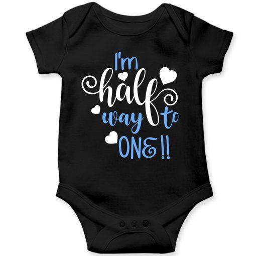 Lovey-Dovey-Half-Birthday-Baby-Romper-Black