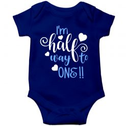 Lovey-Dovey-Half-Birthday-Baby-Romper-Blue