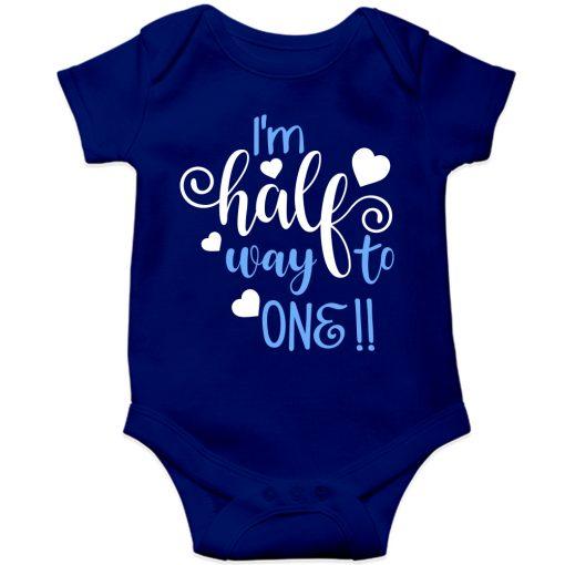 Lovey-Dovey-Half-Birthday-Baby-Romper-Blue
