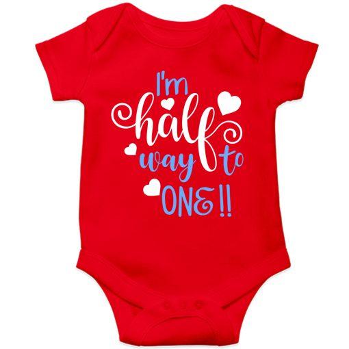 Lovey-Dovey-Half-Birthday-Baby-Romper-Red