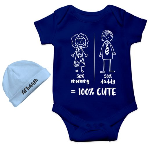 Mommy-Daddy-Combination-Baby-Romper-Gift-Blue