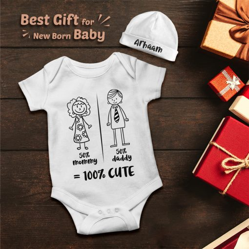 Mommy-Daddy-Combination-Baby-Romper-Gift-Content