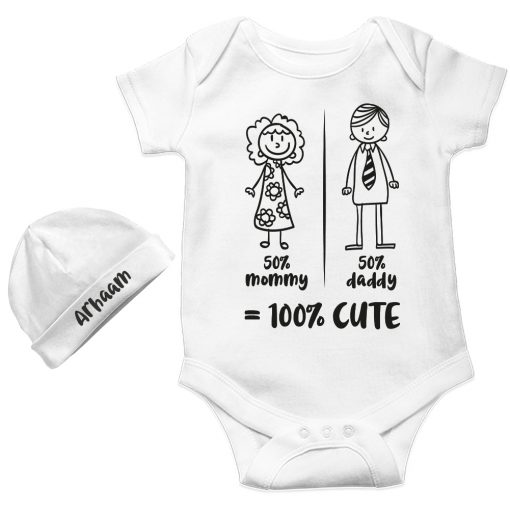 Mommy-Daddy-Combination-Baby-Romper-Gift-White