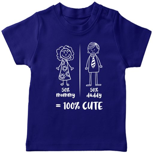 Mommy-Daddy-Combination-T-Shirt-Blue