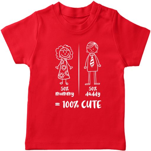 Mommy-Daddy-Combination-T-Shirt-Red