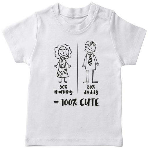 Mommy-Daddy-Combination-T-Shirt-White