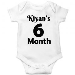 Monthly-Milestone-with-Customized-Name-Baby-Romper-White