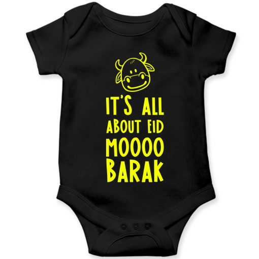 Moo-Barak-Cow-Baby-Romper-Black